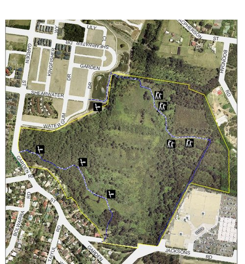 Warriewood Wetlands Map.png